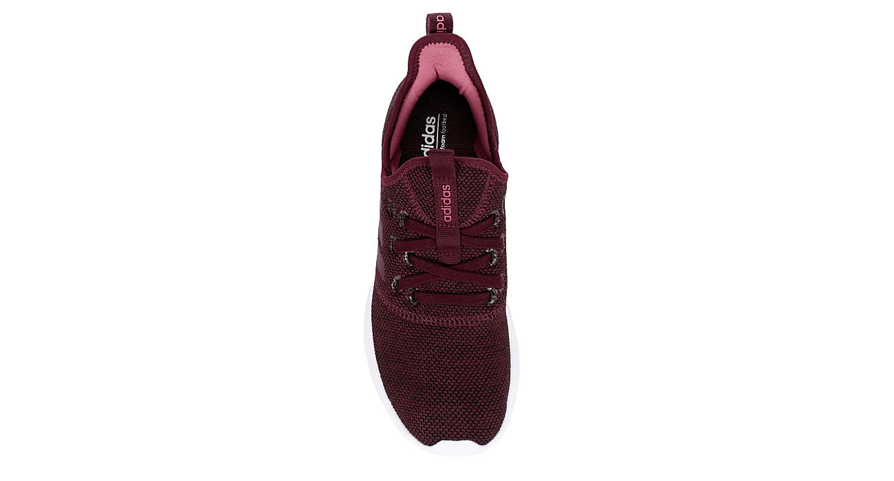 ADIDAS Womens Cloudfoam Pure Sneaker - BURGUNDY