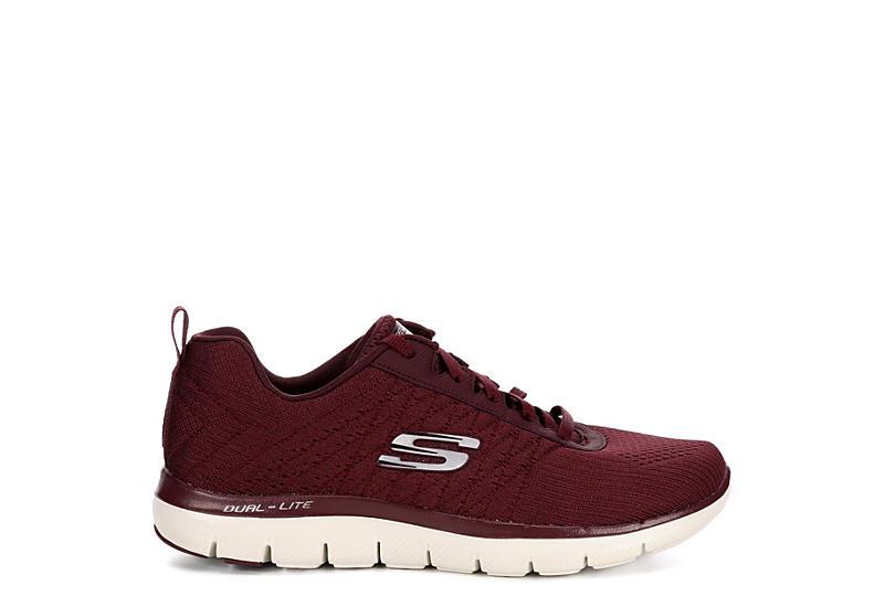 SKECHERS Womens Flex Appeal Break Free Sneaker - BURGUNDY