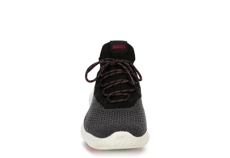 SKECHERS Womens Go Walk Revolution Ultra Turbo Sneaker - BLACK