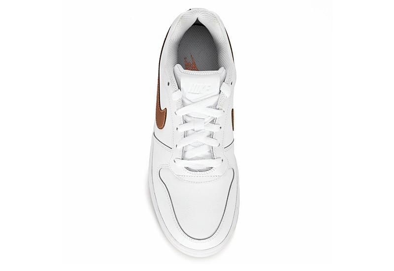 NIKE Womens Ebernon Low Sneaker - WHITE