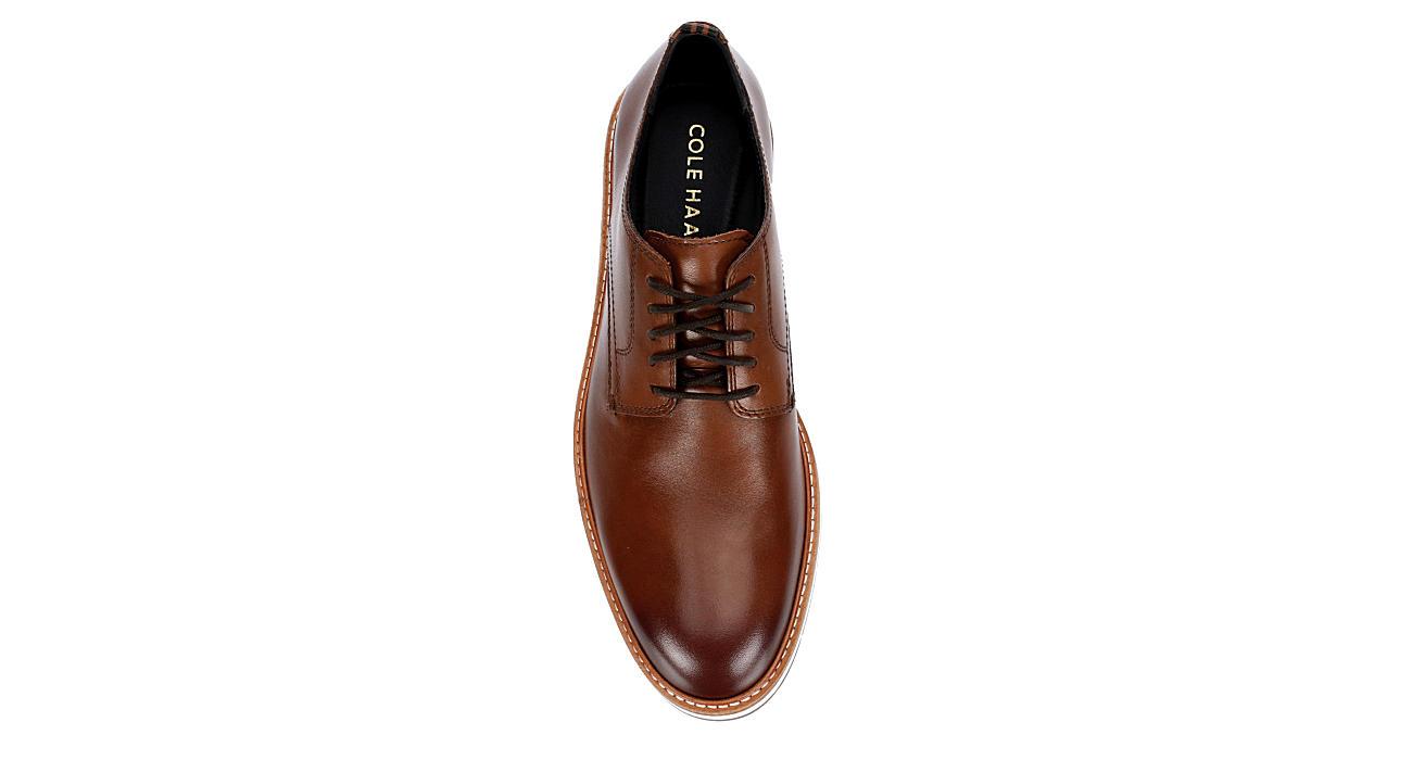 COLE HAAN Mens Morris Plain Toe Oxford - COGNAC