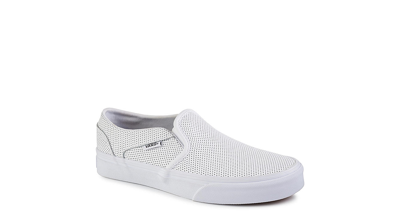 most popular cost charm many styles White Vans Asher Women's Slip-On Sneakers   Off Broadway Shoes