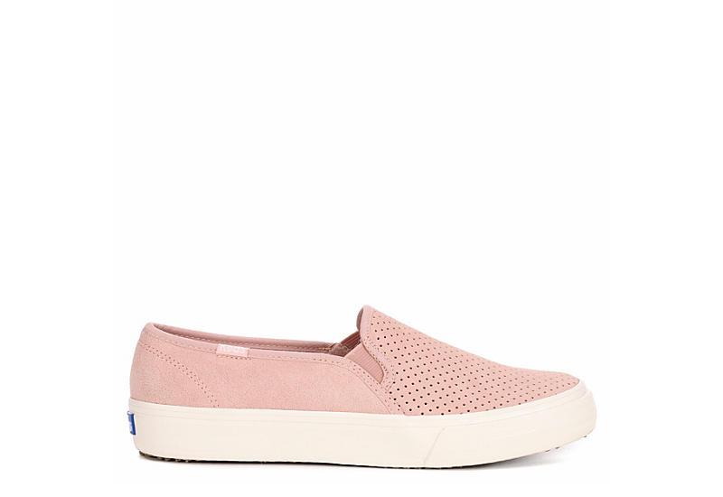 KEDS Womens Double Decker Slip On Sneaker - PALE PINK