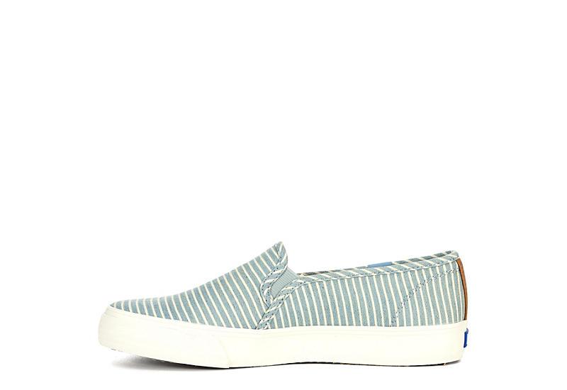 KEDS Womens Double Decker Slip On Sneaker - BLUE