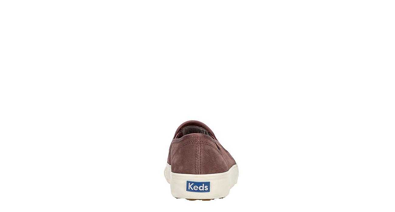 KEDS Womens Double Decker Slip On Sneaker - PURPLE