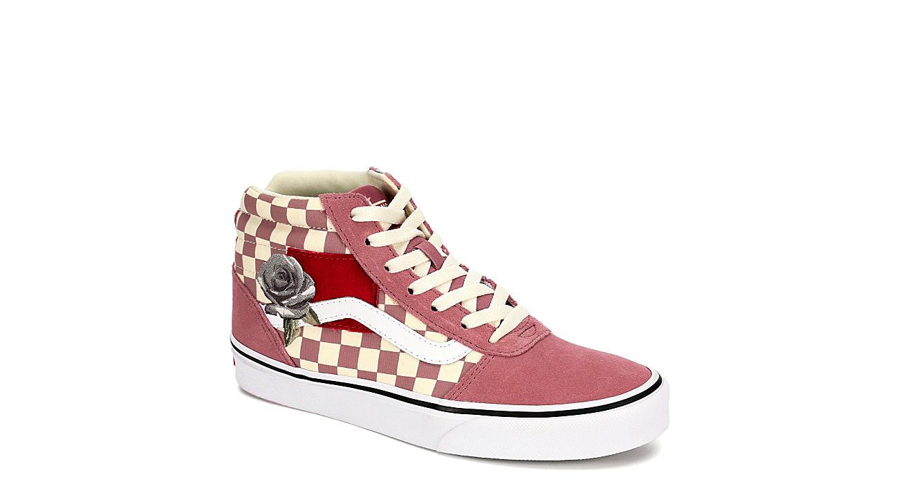 VANS Womens Ward High Top Sneaker - PINK