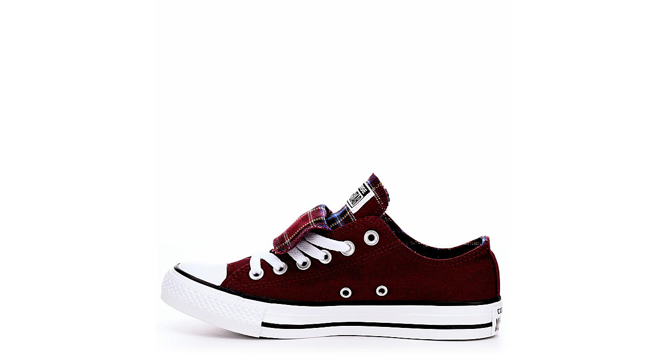 b83b4864f83cff Burgundy Converse Womens Chuck Taylor All Star Double Tongue Sneaker ...