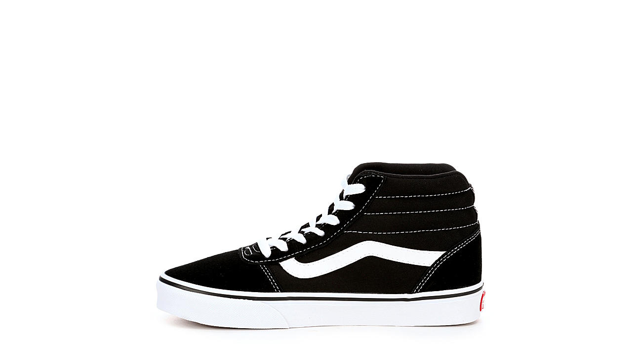 VANS Womens Ward High Top Sneaker - BLACK