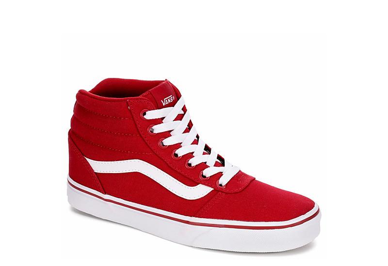 red vans shoes women