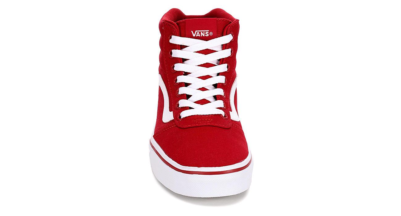 red vans shoes ward hi