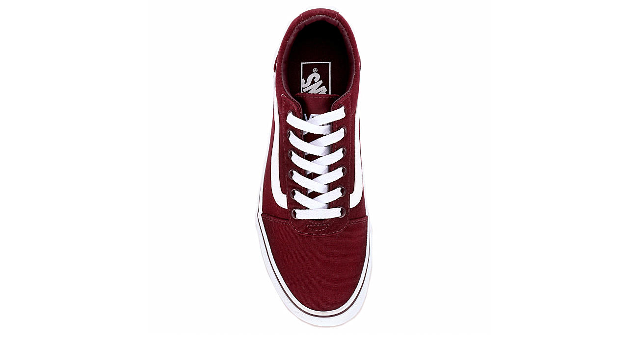 VANS Womens Ward Sneaker - BURGUNDY