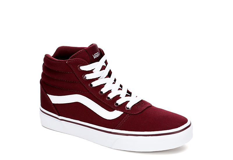 Vans Womens Ward High Top Sneaker - Burgundy ffe467304