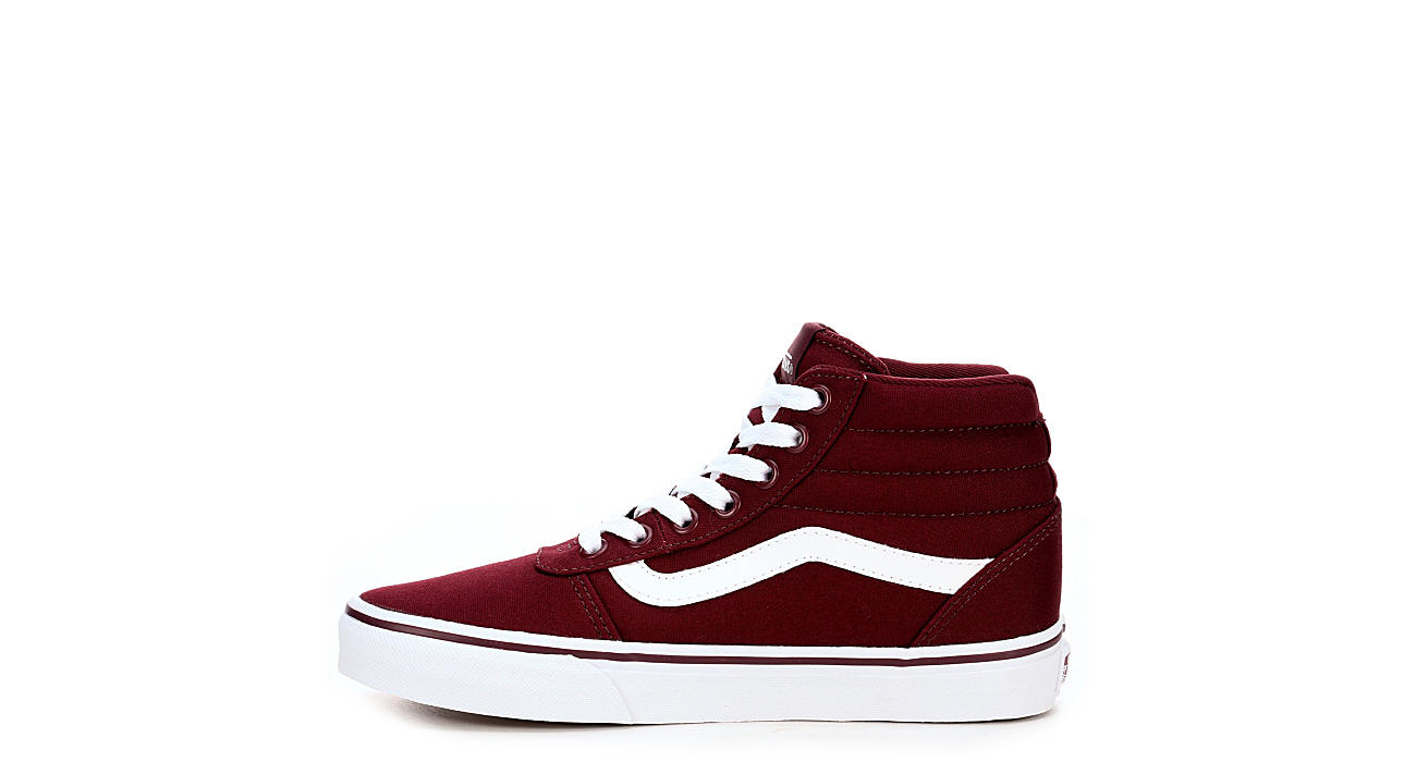 4ac5df6387 Vans Womens Ward High Top Sneaker - Burgundy