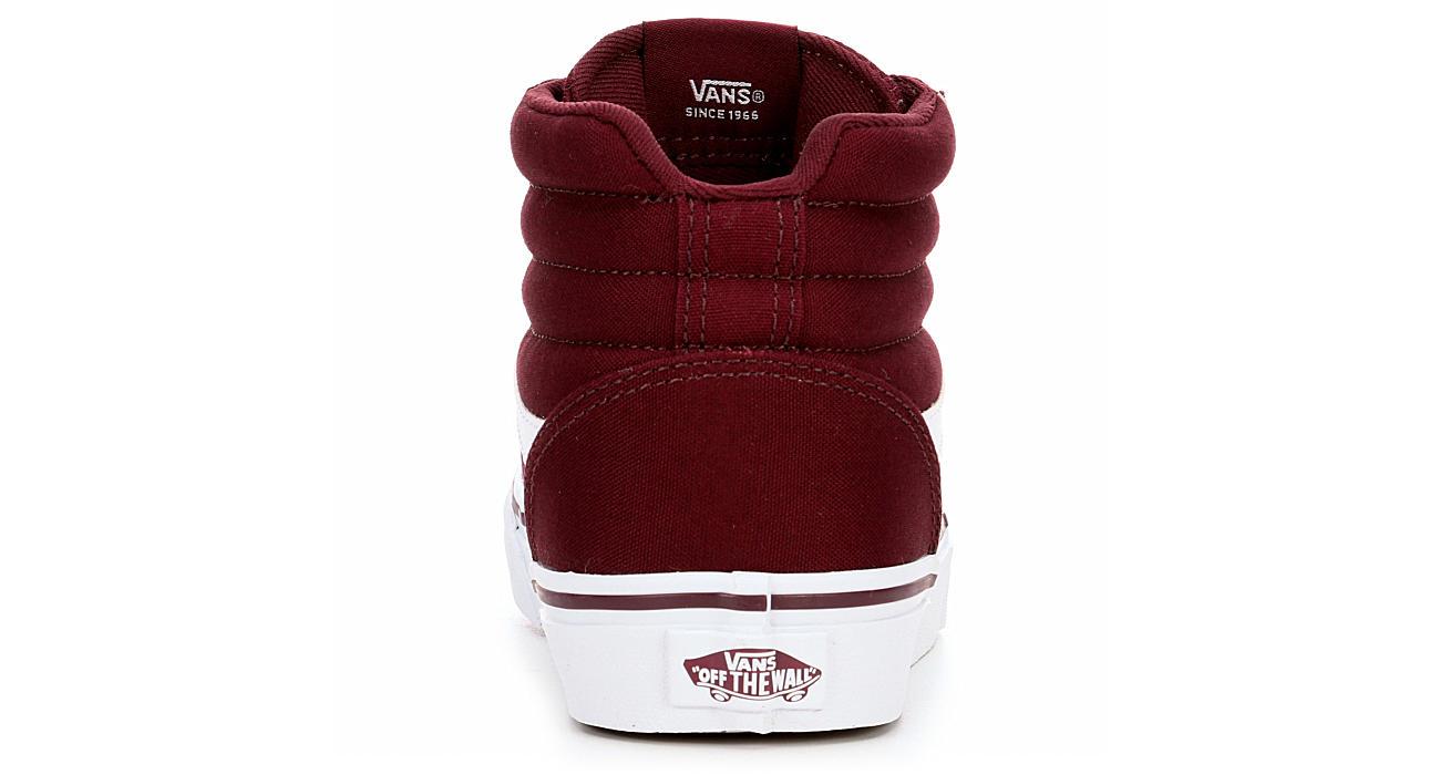 Vans Womens Ward High Top Sneaker - Burgundy 50dad9496