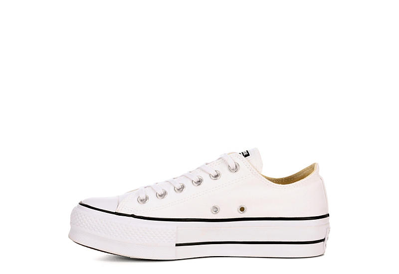 CONVERSE Womens Chuck Taylor All Star Low Lift Sneaker - WHITE