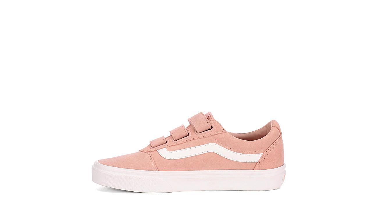 8c4fd44427b Vans Womens Ward Velcro Sneaker - Pale Pink