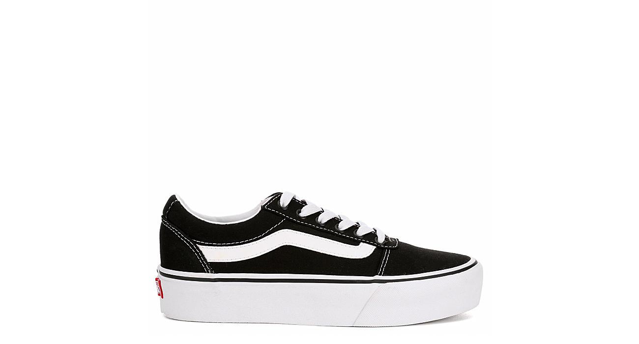 9adb677279eb Vans Womens Ward Platform Sneaker - Black