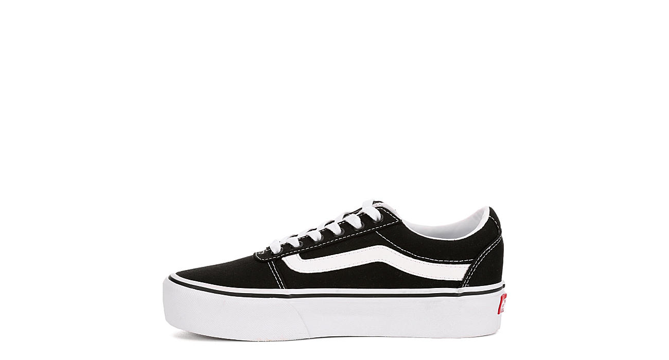 bdee93a1b50dcb Black Vans Womens Ward Platform Sneaker | Athletic | Off Broadway Shoes