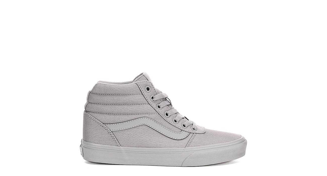 324640068c All Grey Vans Ward Women s High Top Sneakers