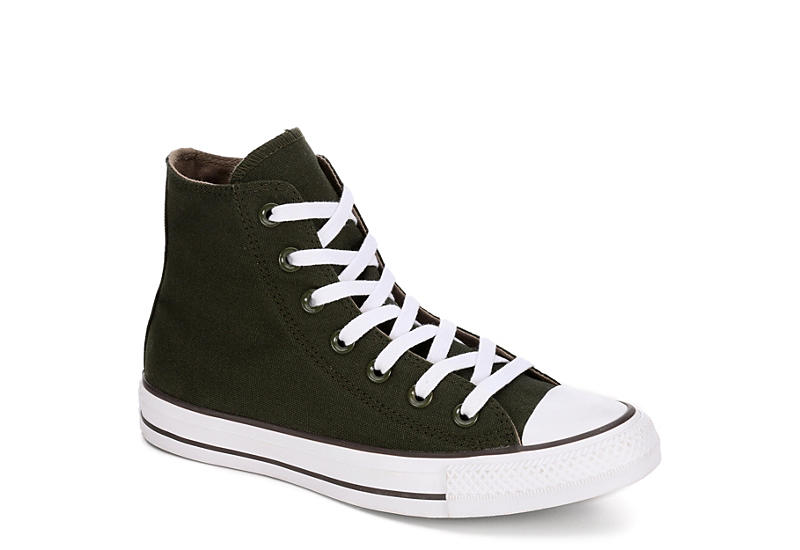 a7f63e5eacd26c Converse Womens Chuck Taylor All Star High Top Sneaker - Olive
