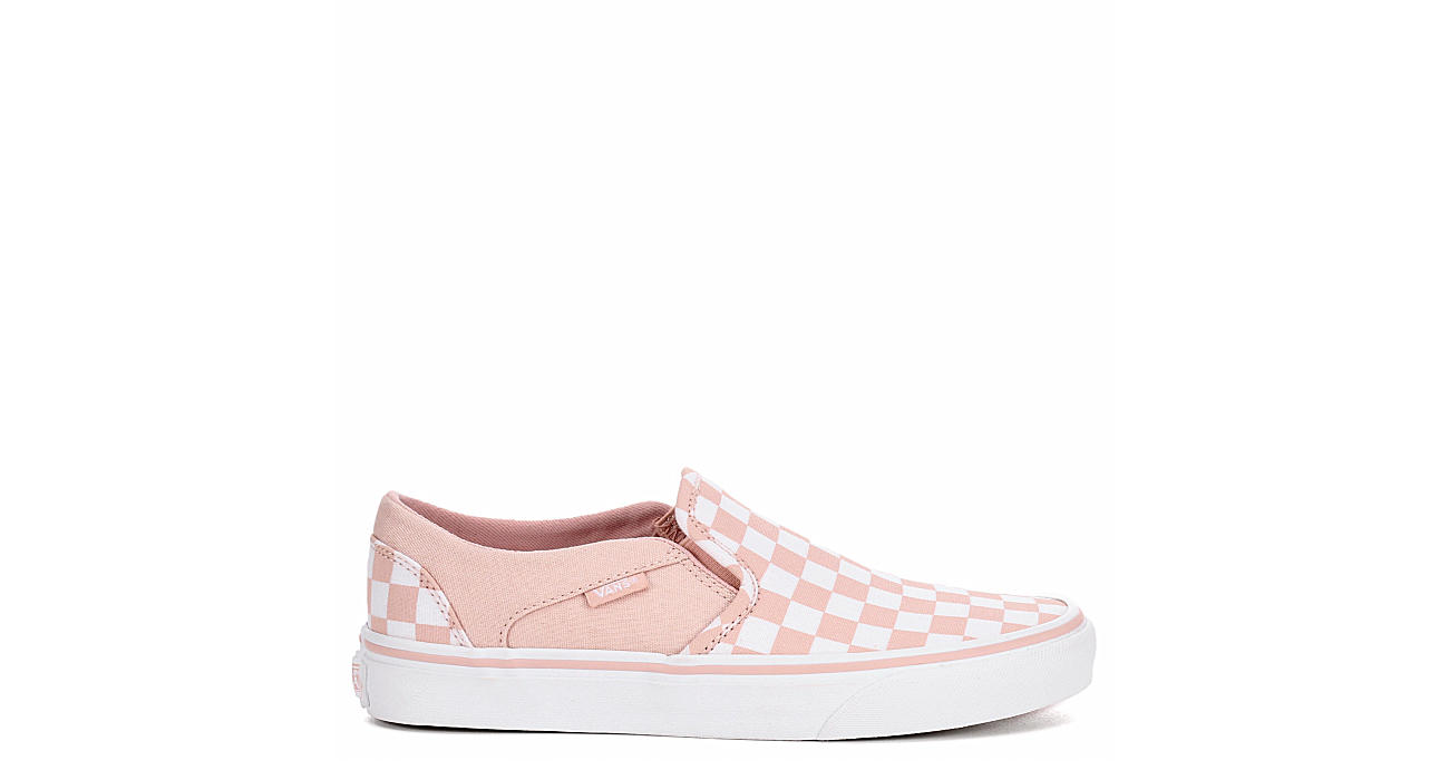 Pink Vans Asher Checkerboard Women s Slip-On Sneakers  0dd765a4e