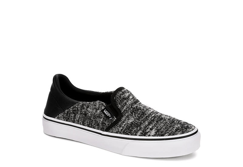 ca5f215b221b9c Vans Womens Asher Slip On Sneaker - Black