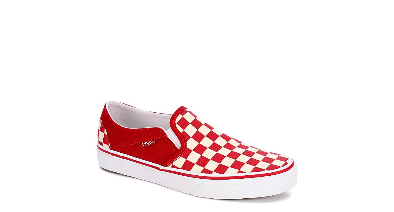 VANS Womens Asher Slip On Sneaker - RED
