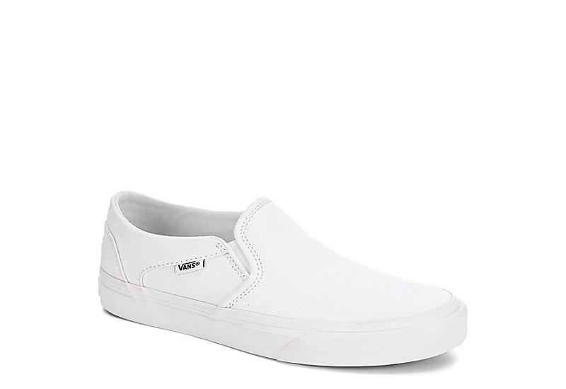 4edd3b51d74619 Vans Womens Asher Slip On Sneaker - White