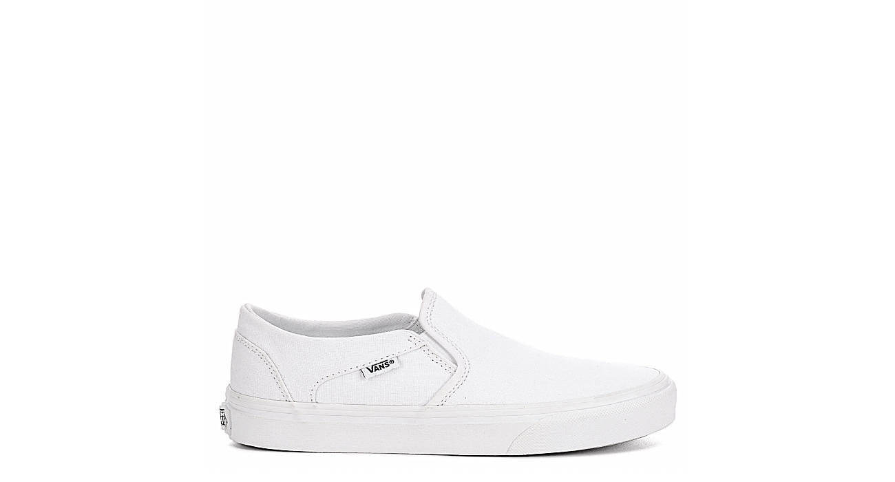 VANS Womens Asher Slip On Sneaker - WHITE
