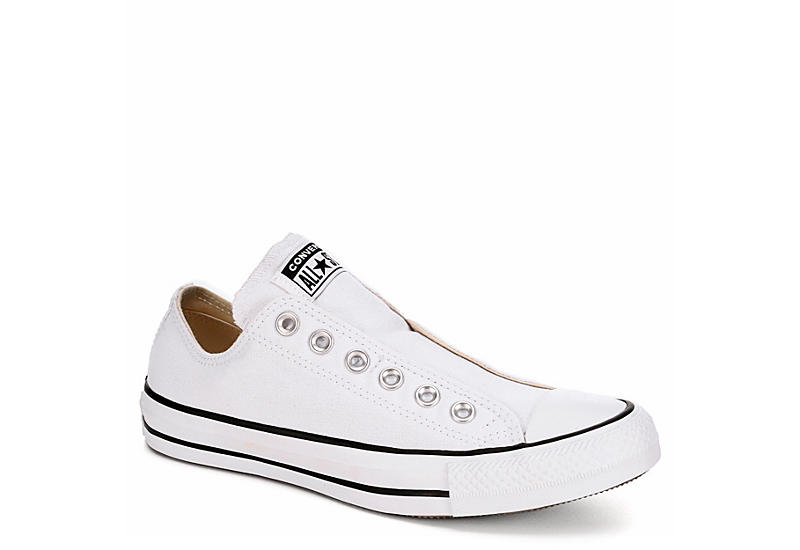 WHITE CONVERSE Womens Chuck Taylor All Star Low Slip On Sneaker