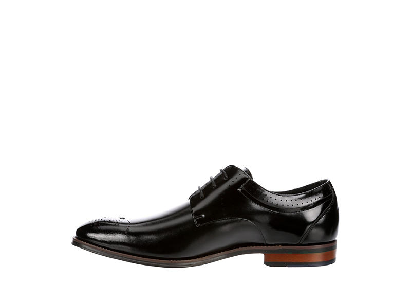 STACY ADAMS Mens Batlin Medallion Toe Oxford - BLACK