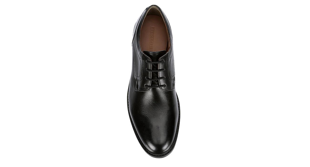 FRANCO FORTINI Mens Gideon Plain Toe Oxford - BLACK