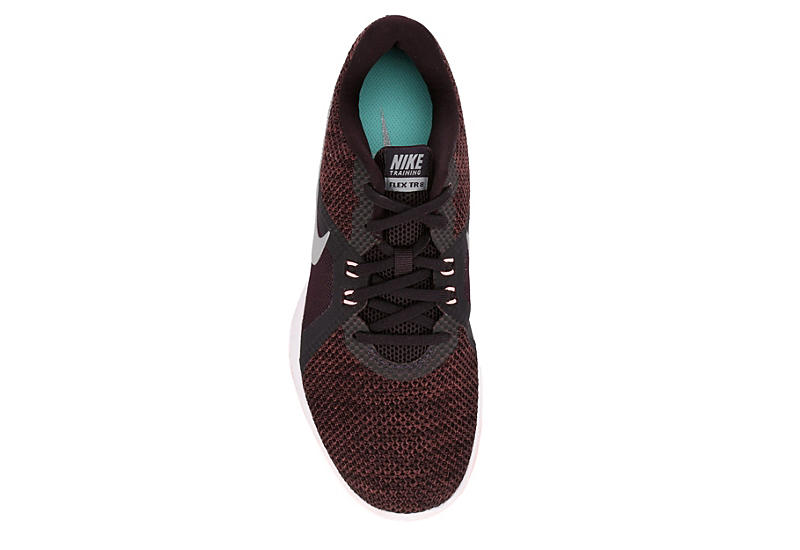 NIKE Womens Trainer 8 Training Shoe - BURGUNDY
