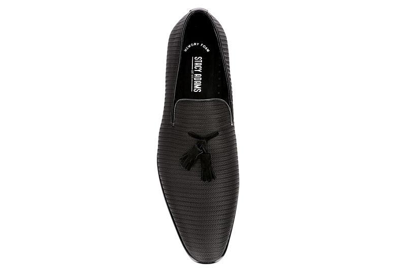 STACY ADAMS Mens Tazewell Slip On Shoe - BLACK