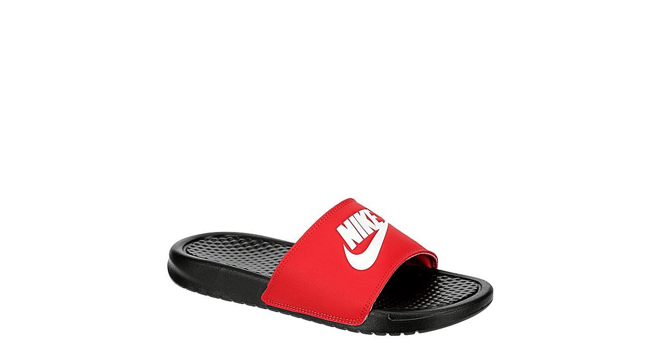 NIKE Mens Benassi Jdi Slide Sandal - RED