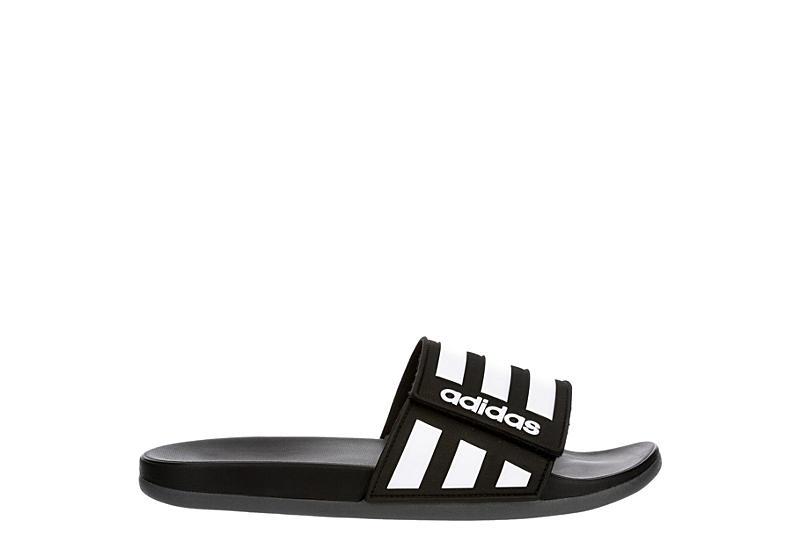 ADIDAS Mens Adilette Comfort Adj Slide Sandal - BLACK