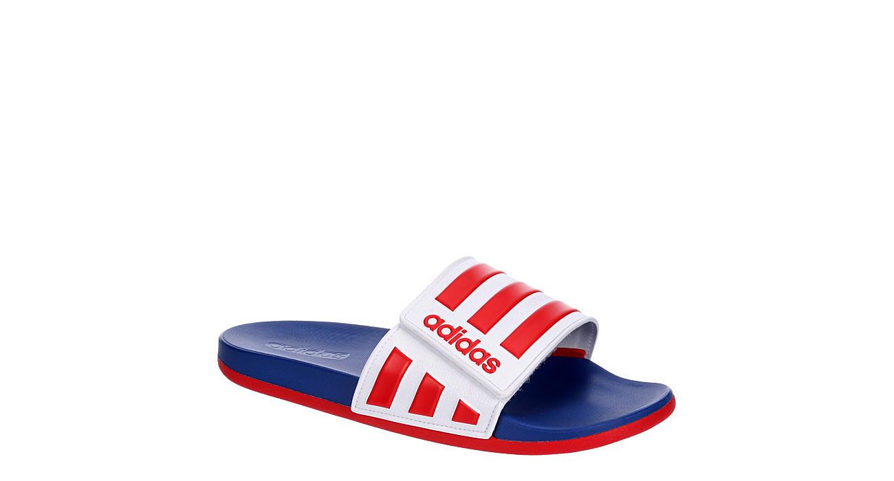 ADIDAS Mens Adilette Comfort Adj Slide Sandal - WHITE