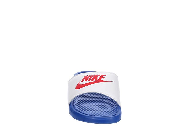 NIKE Mens Benassi Jdi Slide Sandal - WHITE