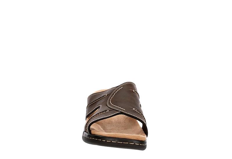 DOCKERS Mens Sunland Casual Slide Sandal - DARK BROWN