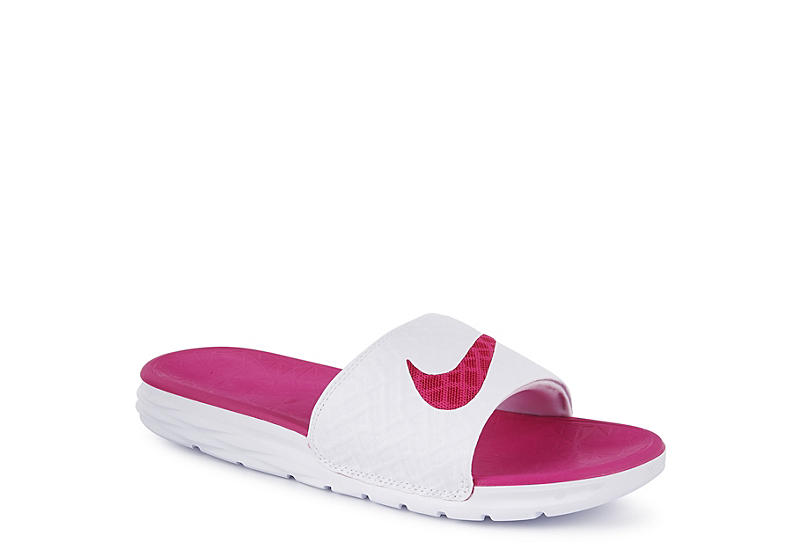 Nike Womens Benassi Solarsoft Sandal - White f1a258a1b3