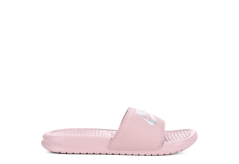 NIKE Womens Benassi Slide Sandal - BLUSH