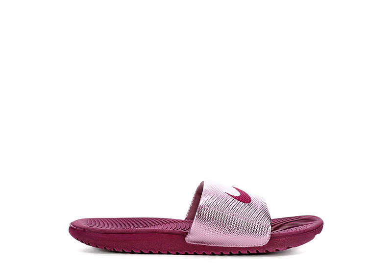 NIKE Womens Kawa Slide Sport Sandal - BURGUNDY