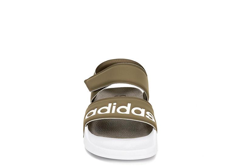 ADIDAS Womens Adilette Sport Sandal - OLIVE