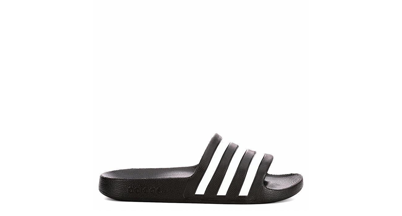 ADIDAS Womens Adilette Aqua Slide Sandal - BLACK