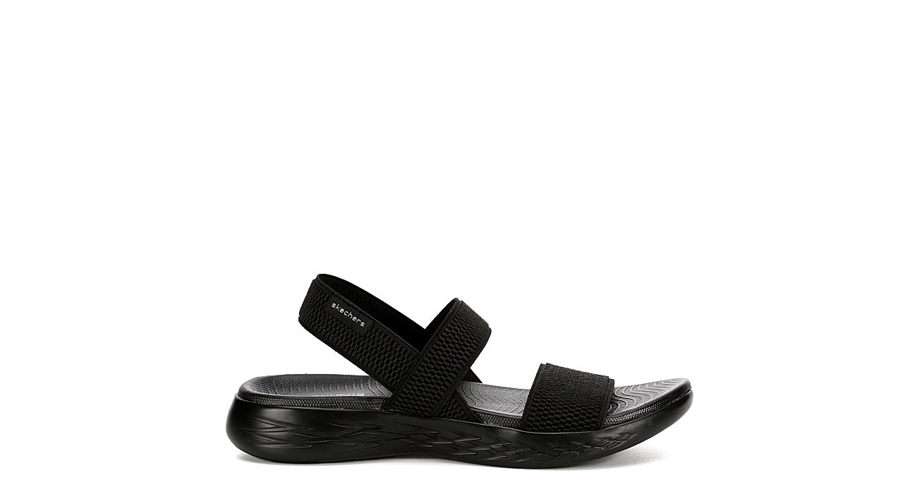 SKECHERS Womens Otg 600 Back Sport Slide - BLACK