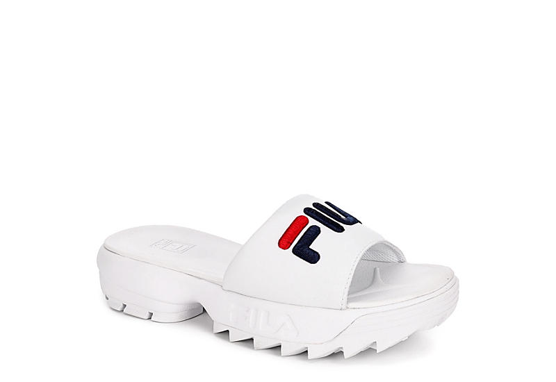 FILA Womens Disruptor Slide - WHITE