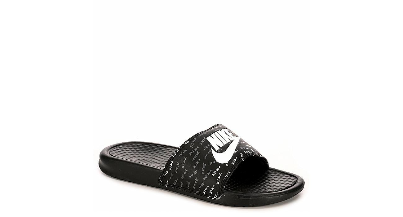 NIKE Womens Benassi Jdi Sandal - BLACK