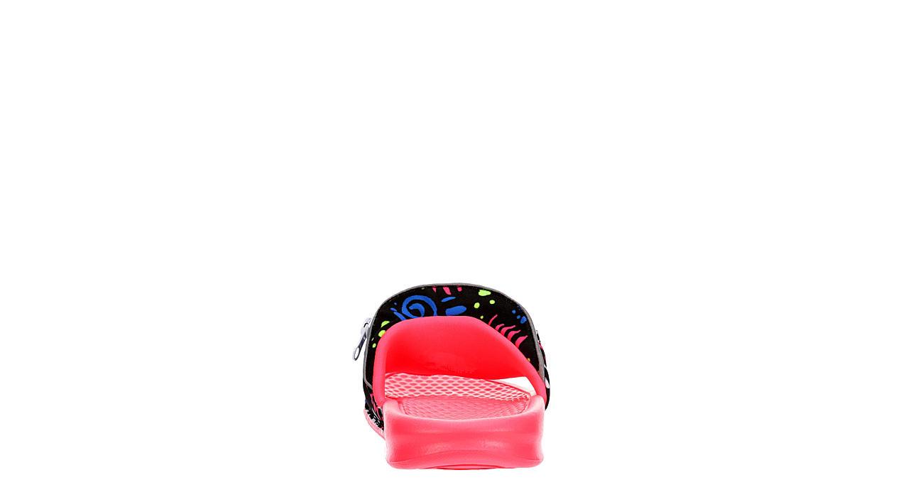 NIKE Womens Benassi Jdi Fanny Pack Slide Sandal - PINK