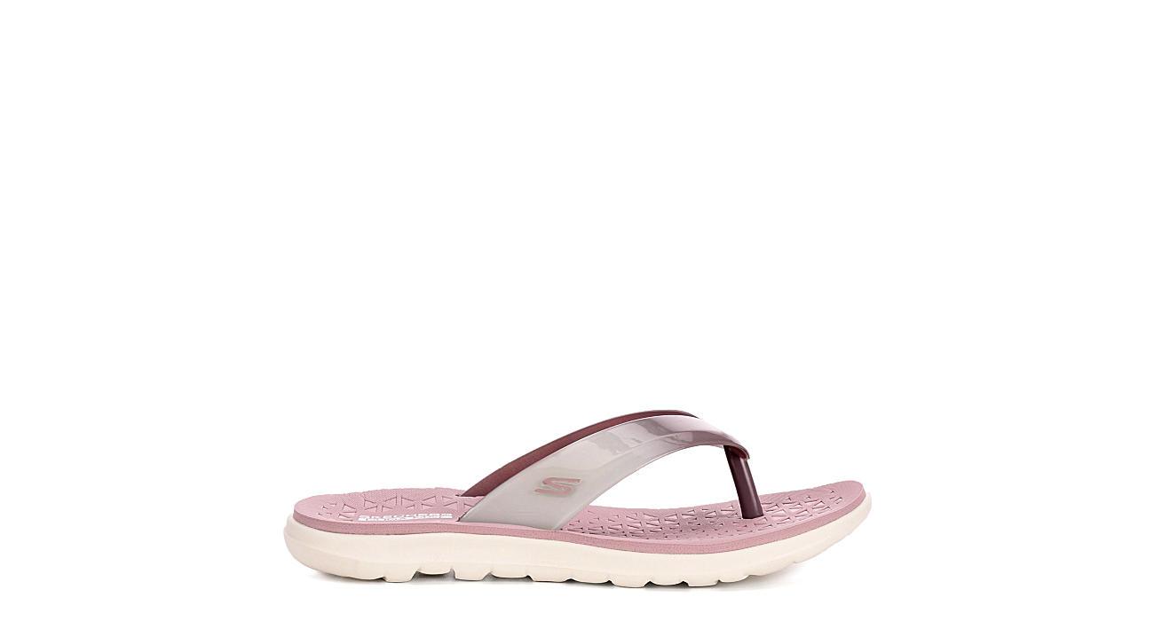 SKECHERS Womens Jelly Flip Flop Sandal - LILAC