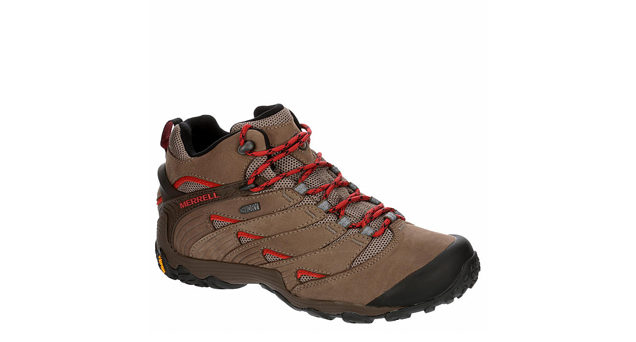 MERRELL Mens Chameleon 7 Mid Waterproof Hiking Boot - BROWN